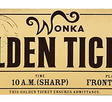 Wonka - Golden Ticket by RAJEK