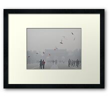 Kite Flyers Framed Print