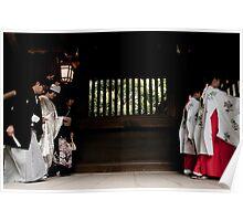 Japanese style wedding Poster