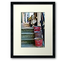 Three Buckets and a Bust :) Framed Print