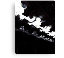 Cubic ceiling lights - black and white Canvas Print
