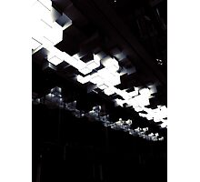 Cubic ceiling lights - black and white Photographic Print