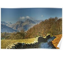 The Track From Loughrigg Tarn. Poster