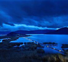 The floating bridge of Agios Achileios by Hercules Milas