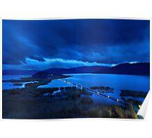 The floating bridge of Agios Achileios Poster