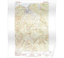 USGS Topo Map Oregon Clatskanie 279363 1985 24000 Poster