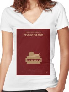 No006 My Apocalypse Now minimal movie poster Women's Fitted V-Neck T-Shirt
