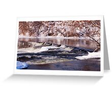 Waterfalls of Almonte 01/30/11 Greeting Card