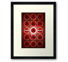 Sharingan Obsessions Framed Print