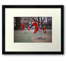 Parisian Rocking Horses Framed Print