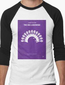 No010 My Big Lebowski minimal movie poster Men's Baseball ¾ T-Shirt