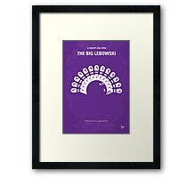 No010 My Big Lebowski minimal movie poster Framed Print