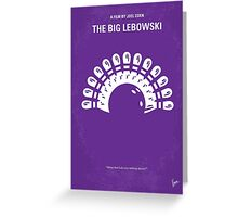 No010 My Big Lebowski minimal movie poster Greeting Card