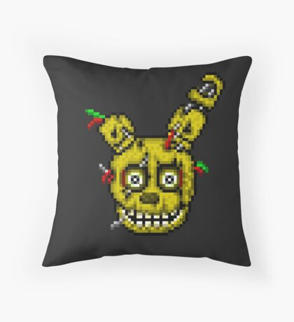 Five Nights at Freddy's 3 - Pixel art - SpringTrap Throw Pillow