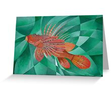 Fire Fish or Lionfish. Venomous Marine Fish. Greeting Card