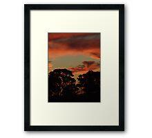 Red Sky Burning Framed Print