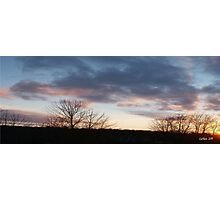 St. Lawrence County Sunset Photographic Print