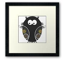 Spooky Halloween Owl Framed Print