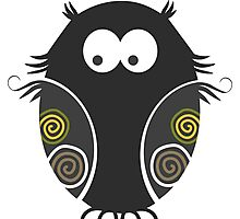 Spooky Halloween Owl Photographic Print