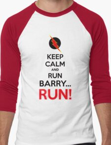 RUN BARRY RUN (The Reverse)! Men's Baseball ¾ T-Shirt