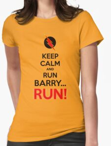 RUN BARRY RUN (The Reverse)! Womens Fitted T-Shirt