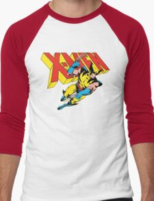 X-Men Wolverine Retro Comic Men's Baseball ¾ T-Shirt