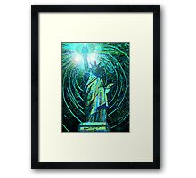 lady liberty - digital - 2010 Framed Print