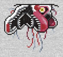 Five Nights at Freddy's 2 - Pixel art - Mangle (Ceiling) One Piece - Long Sleeve