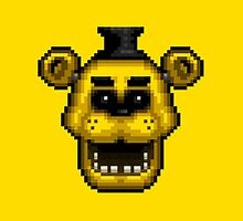 Five Nights at Freddy's 1 - Pixel art - Golden Freddy by GEEKsomniac