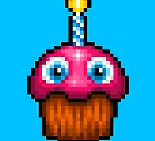 Five Nights at Freddy's 2 - Pixel art - Cupcake (no plate) by GEEKsomniac
