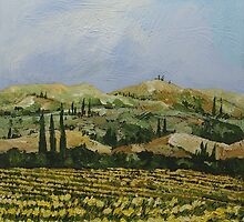 Yellow Field by Allan P Friedlander
