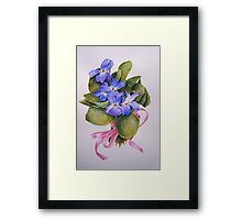 Bouquet for Judi Watercolour Painting Framed Print