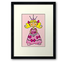 Cute little princess in pink dress  Framed Print
