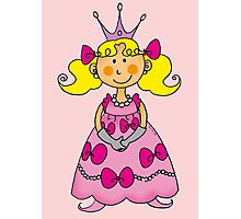 Cute little princess in pink dress  Photographic Print