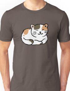 Sleepy calico kitty cat Unisex T-Shirt