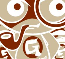 Gent Mascot Stencil Sticker