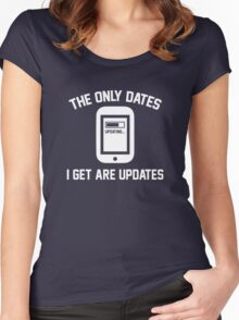 The Only Dates I Get Are Updates Women's Fitted Scoop T-Shirt