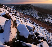 Winter Skies Derbyshire by Roy Childs