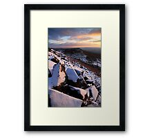 Winter Skies Derbyshire Framed Print