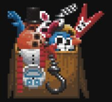 Five Nights at Freddy's 3 - Pixel art - What can we use? - Box of animatronics One Piece - Short Sleeve