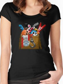 Five Nights at Freddy's 3 - Pixel art - What can we use? - Box of animatronics Women's Fitted Scoop T-Shirt