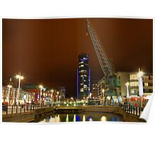 Gunwharf Quays at Night Poster