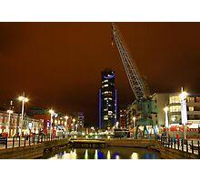 Gunwharf Quays at Night Photographic Print