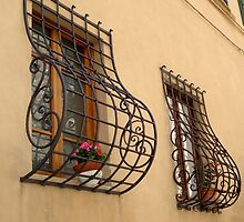 The windows of Colle di Val d'Elsa by Ali Brown