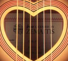 Acoustic Guitar heart Sticker