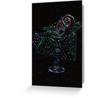 Doll In a Glass Greeting Card