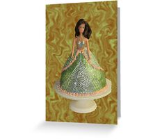 Doll In a Cake Greeting Card