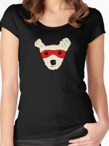 Superhero dog Women's Fitted Scoop T-Shirt