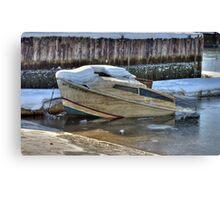 Abandoned little boat Canvas Print