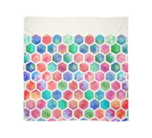 Hand Painted Watercolor Honeycomb Pattern Scarf